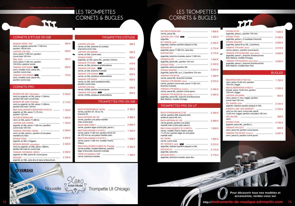 Catalogue instrument Robert martin